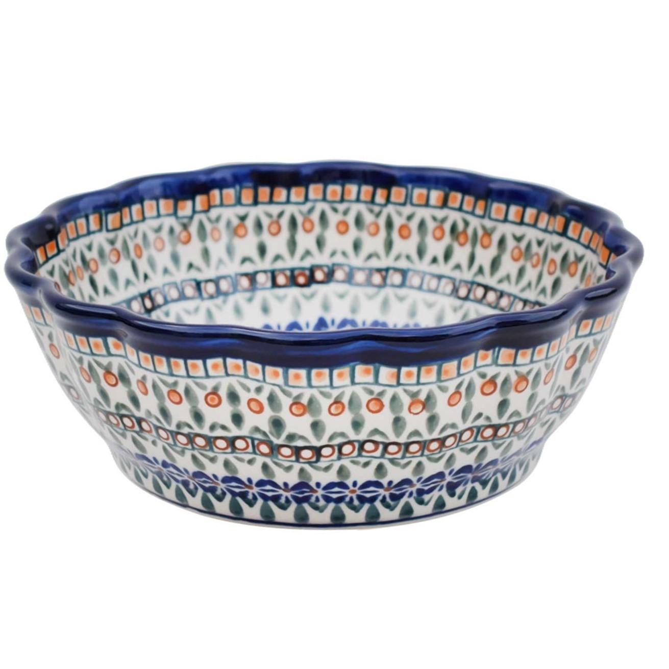 Pottery Avenue Scalloped Stoneware Serving Bowl - 1278-DU199 Enchanting