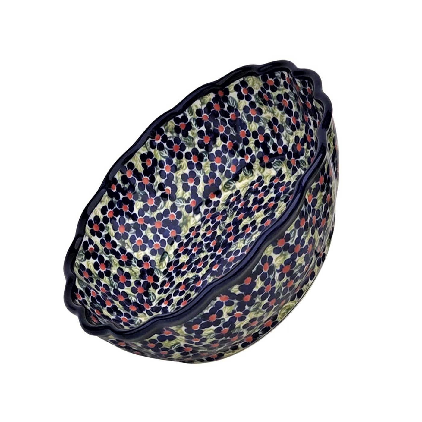Pottery Avenue Scalloped Stoneware Serving Bowl - 1278-DU206 Friendship