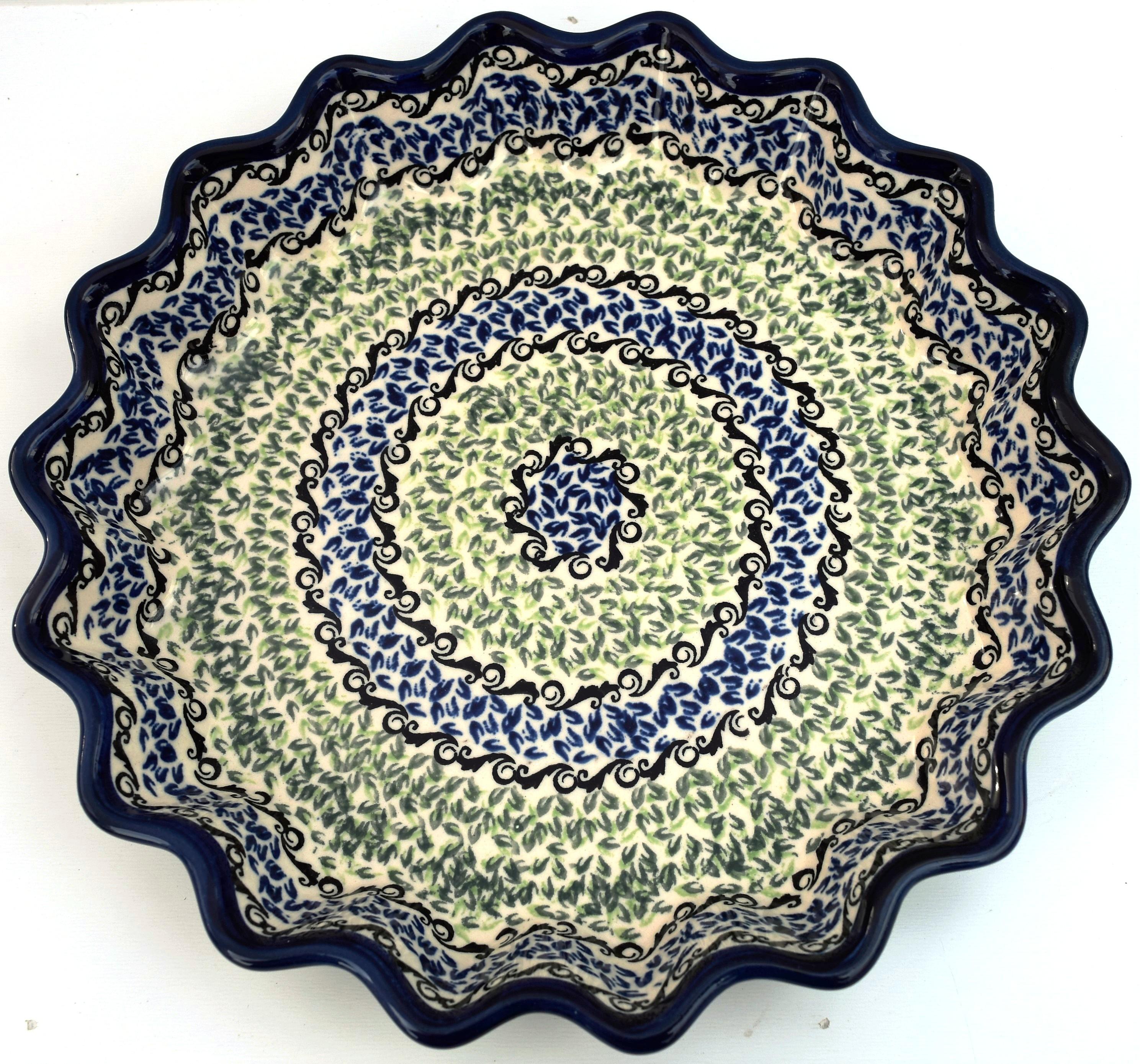 """Pottery Avenue Celebrate 10"""" Stoneware Pie-Quiche Dish"""