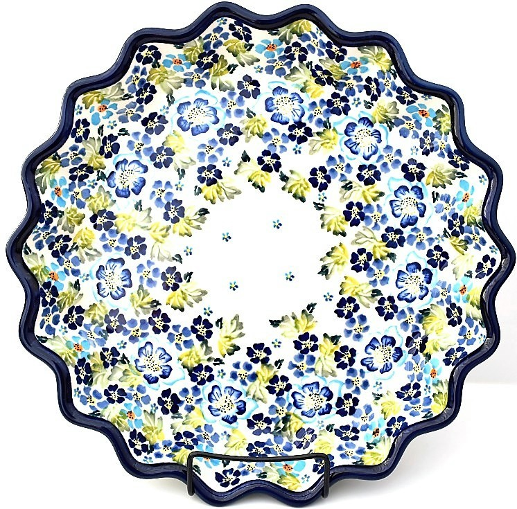 "Pottery Avenue 13"" TRUE BLUES Pie-Quiche Dish 
