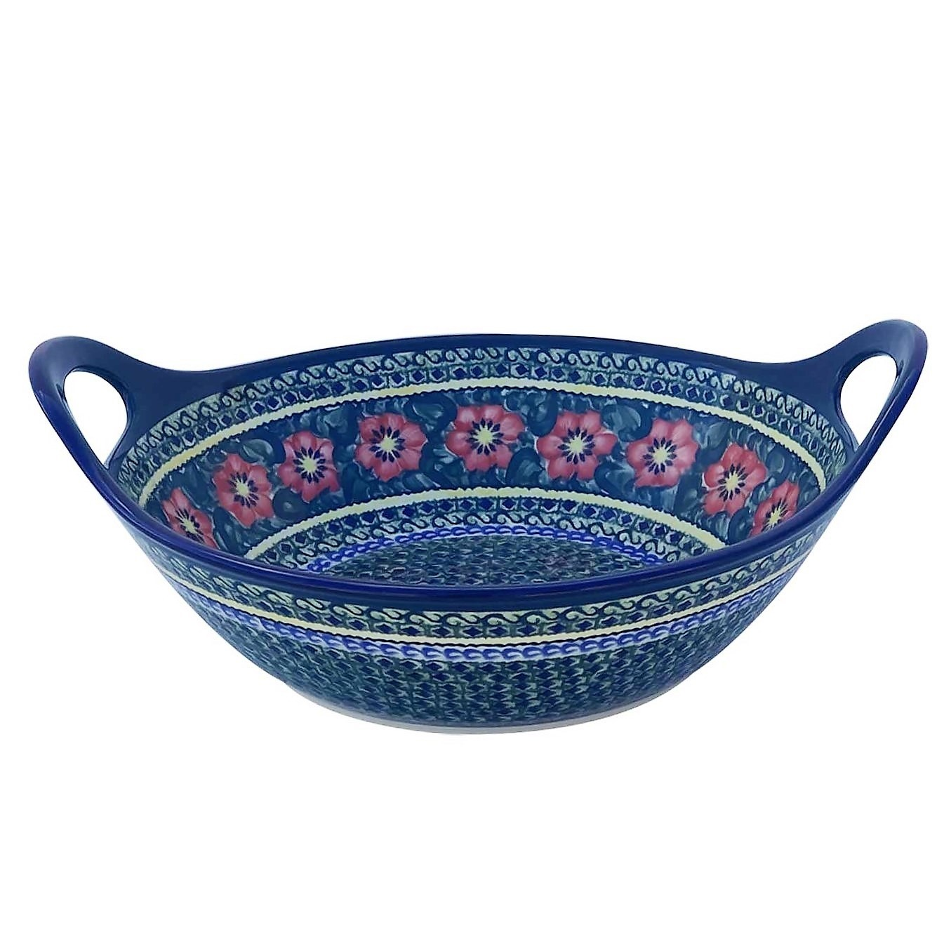 "Pottery Avenue13"" Handled Bowl in Passion - 1347- 134AR"