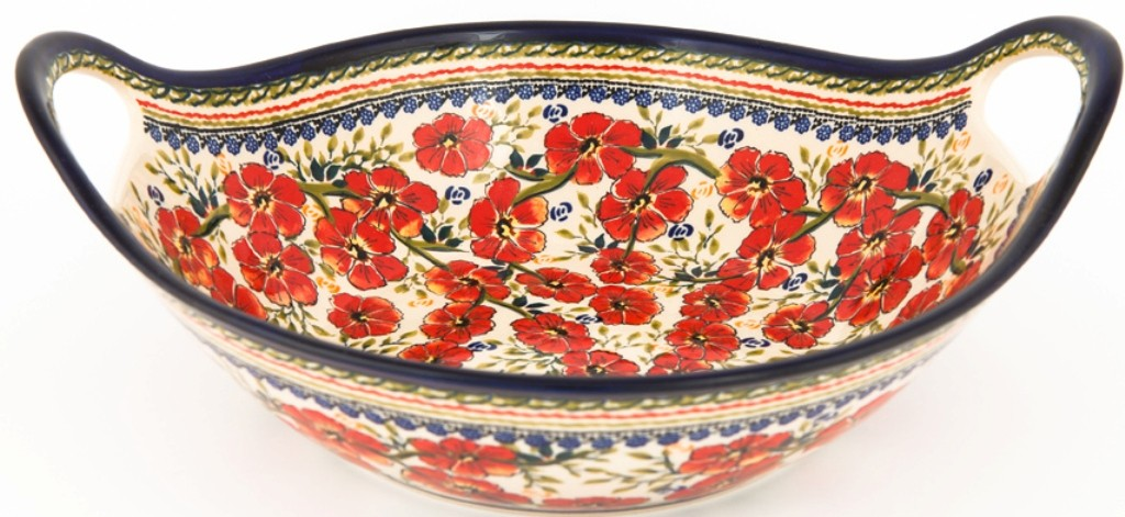 "Pottery Avenue13"" Handled Bowl in Love Blossoms - 1347- 252EX"