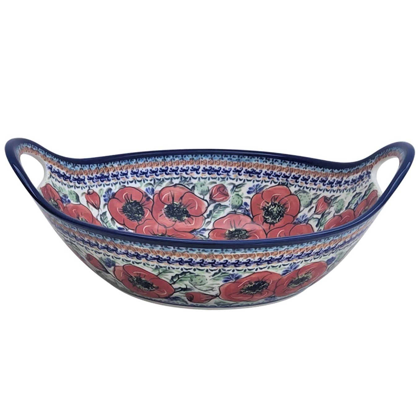 Pottery Avenue 13-inch Handled Stoneware Baker-Serving Bowl - 1347-257EX Bellissima