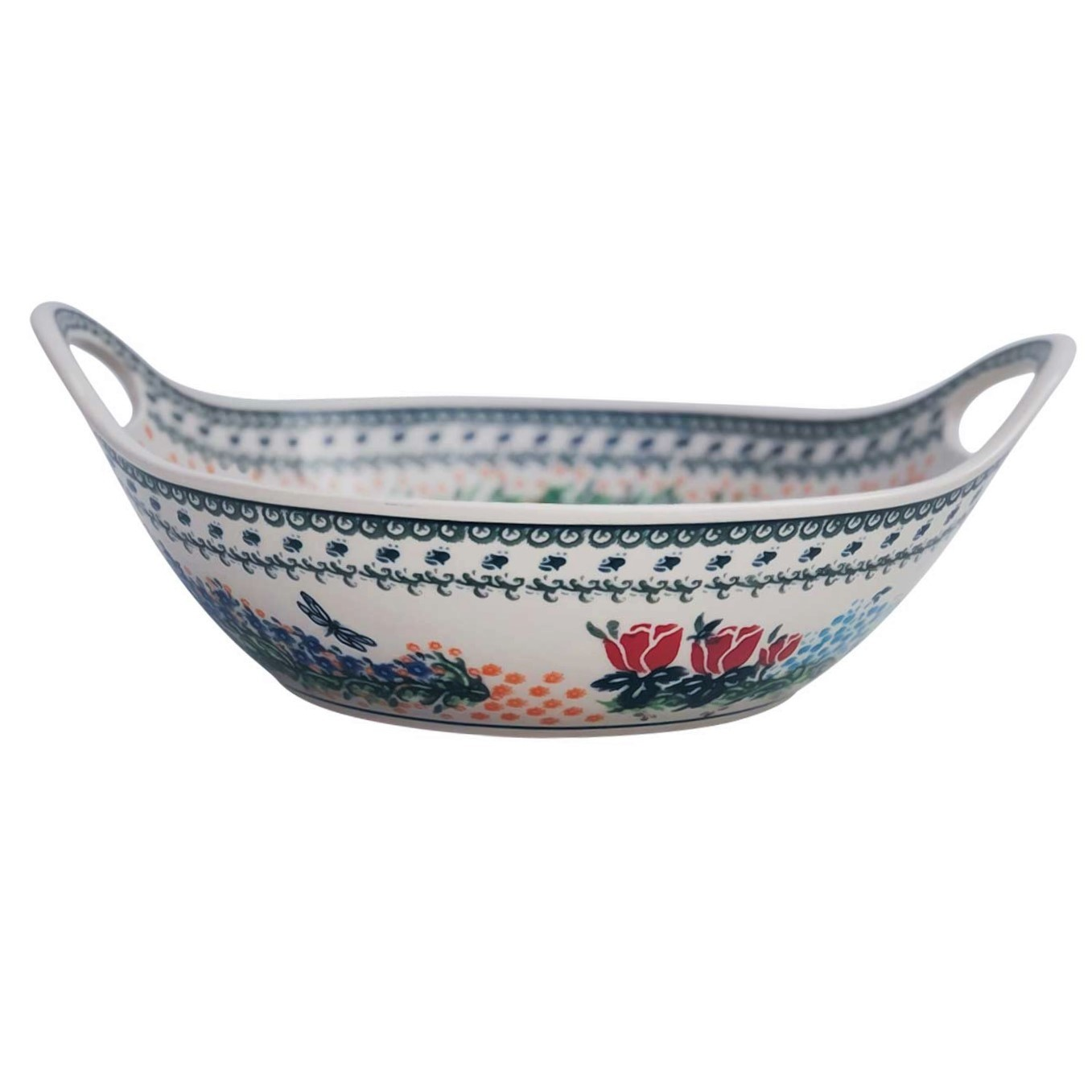 "Pottery Avenue 13"" Handled Stoneware Baker-Serving Bowl - 1347-DU154"