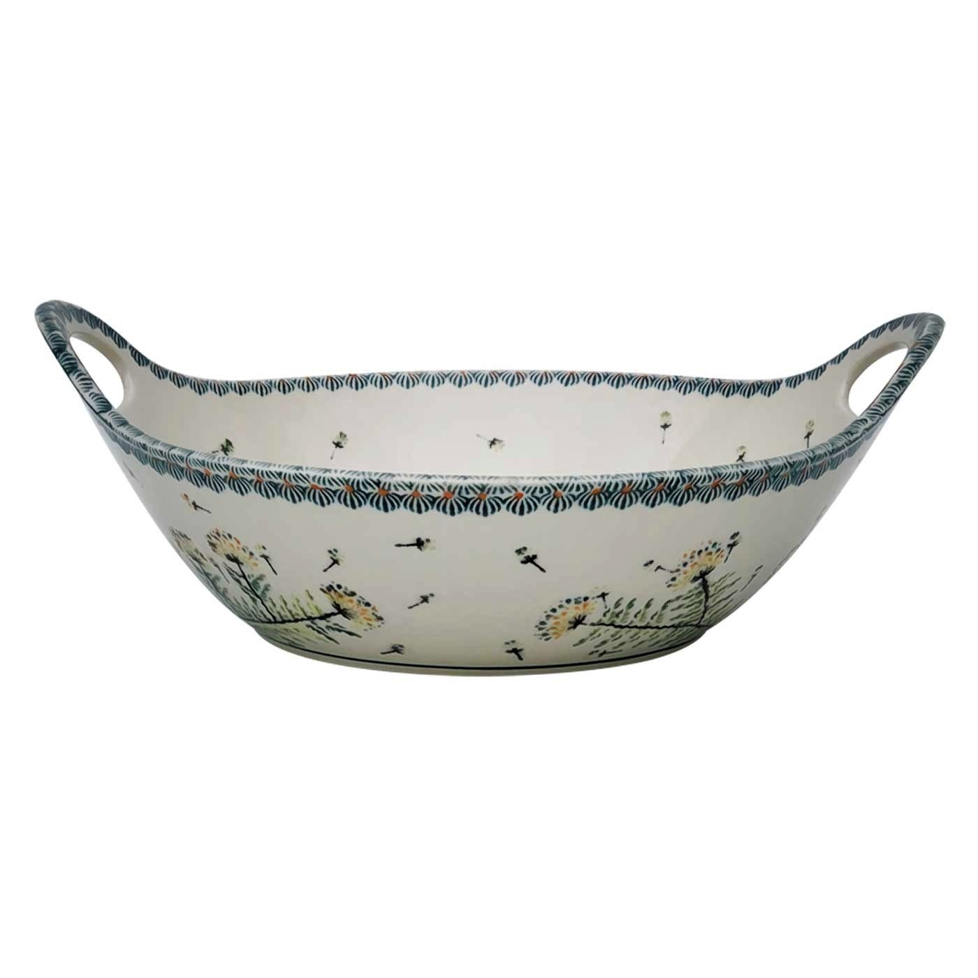 "Pottery Avenue 13"" Handled Stoneware Baker-Serving Bowl - 1347-DU201 Wish"