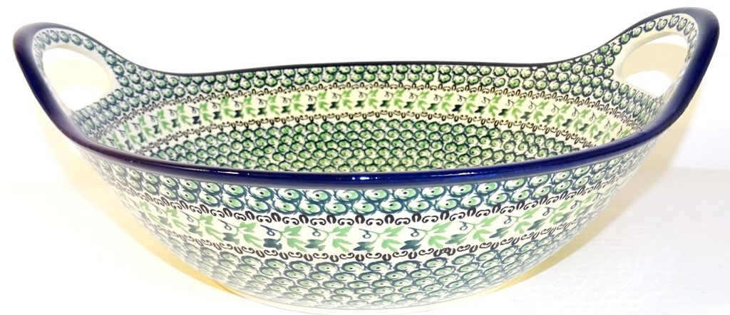 "Pottery Avenue 13"" IVY Baker Bowl With Handle 