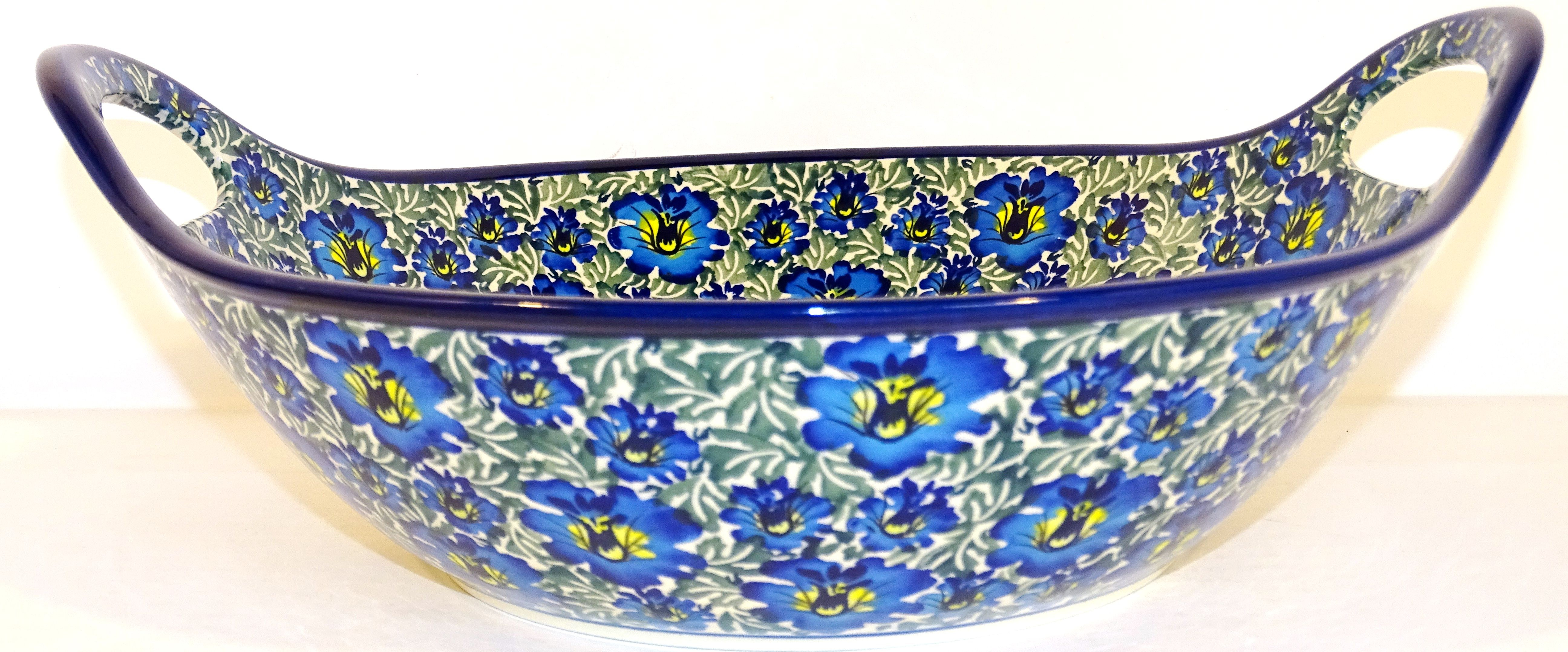 Pottery Avenue Baker Bowl With Handle | BLUE LAGOON