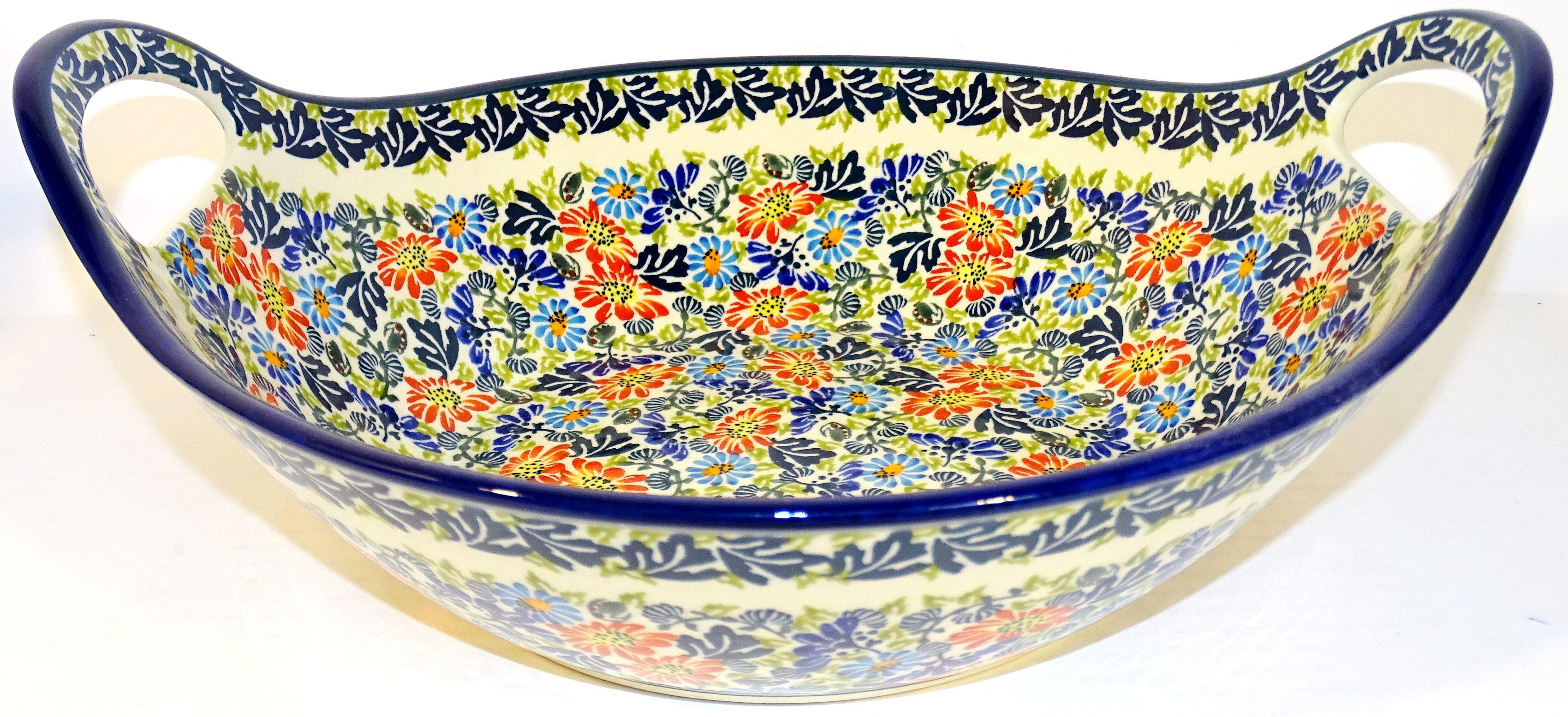 "Pottery Avenue Bliss 13"" Handled Stoneware Baker | Serving Bowl"