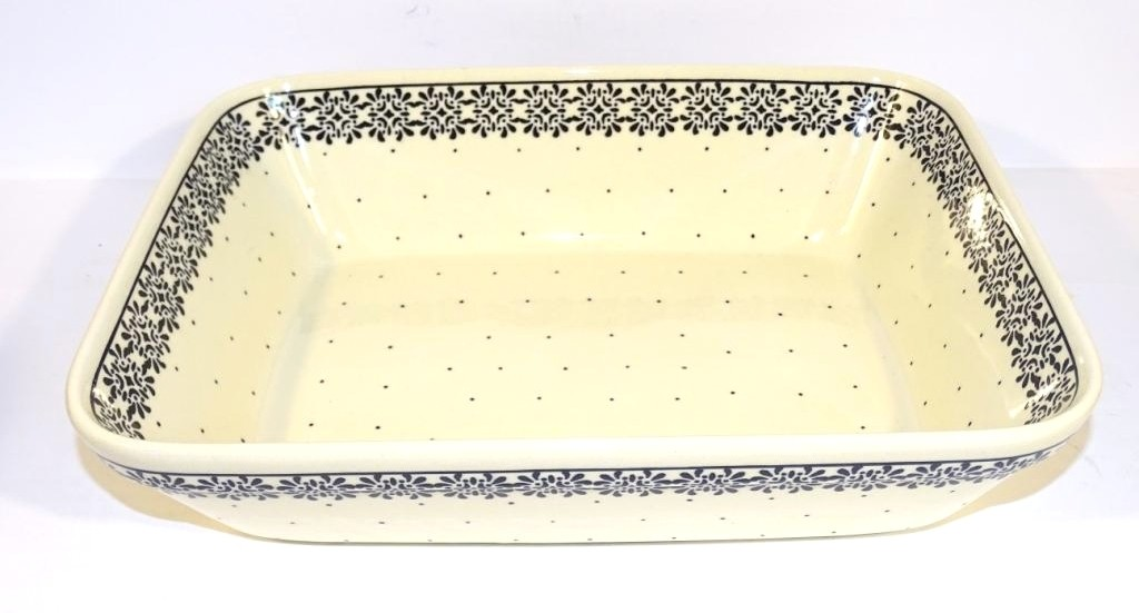 "Polish Pottery 12"" TRENDY TIMES Rectangle Stoneware Serving Tray 