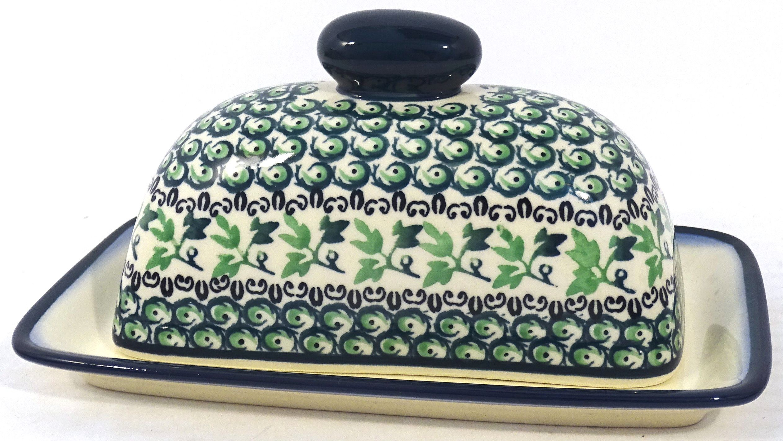Polish Pottery IVY Covered Butter Dish | CLASSIC