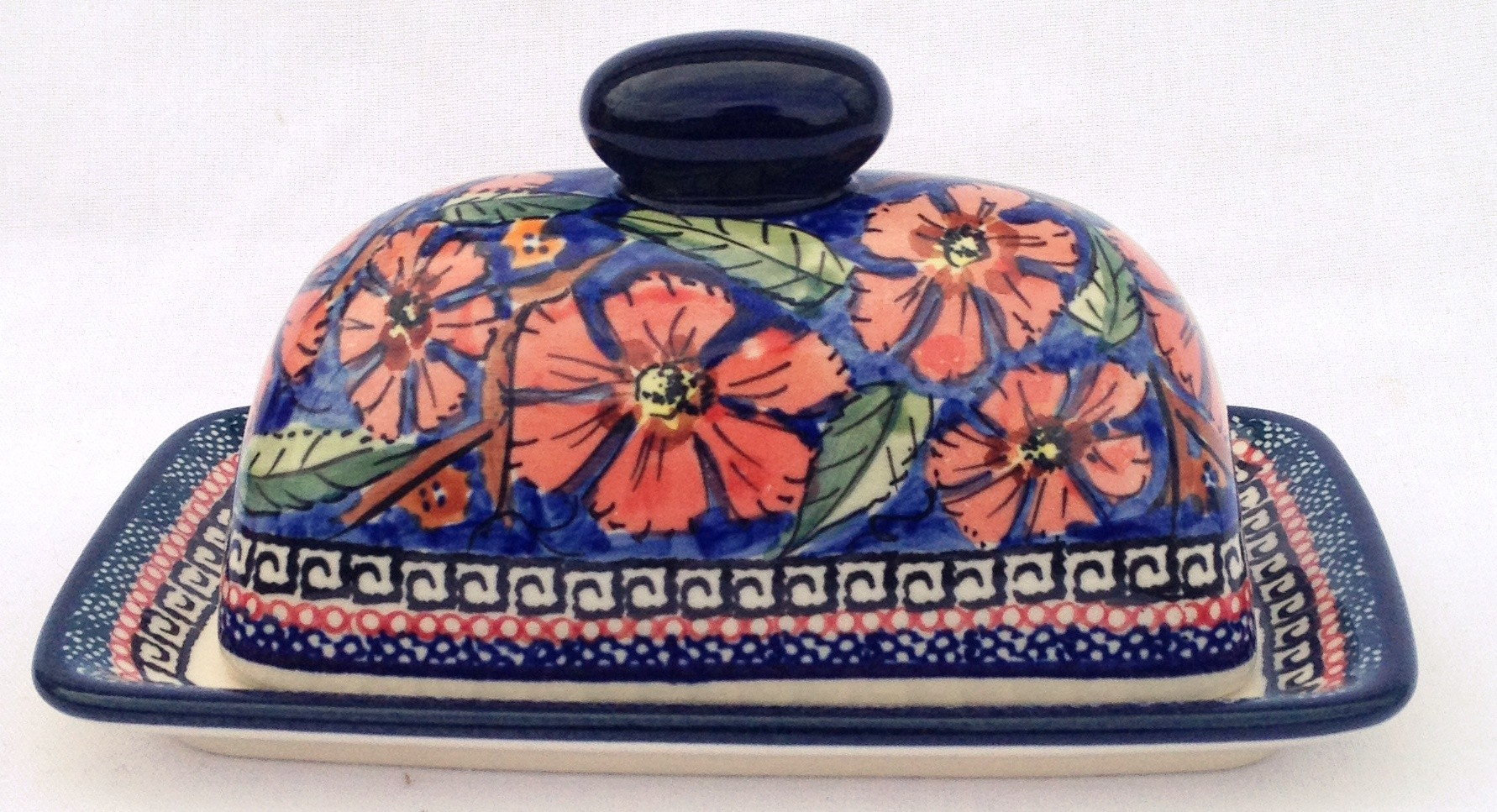 Pottery Avenue Cherished Friends 2pc Covered Stoneware Butter Dish