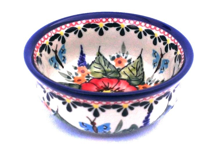Pottery Avenue Small Stoneware Bowl - 1384-149AR BUTTERFLY MERRY MAKING