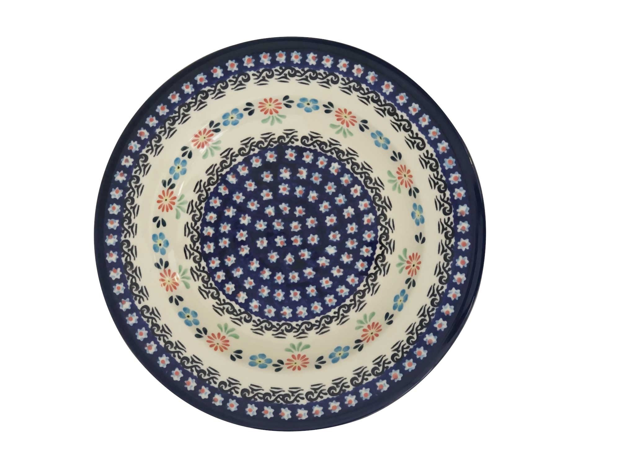 "Pottery Avenue Heritage 9.5"" Soup-Pasta-Salad Stoneware Plate"