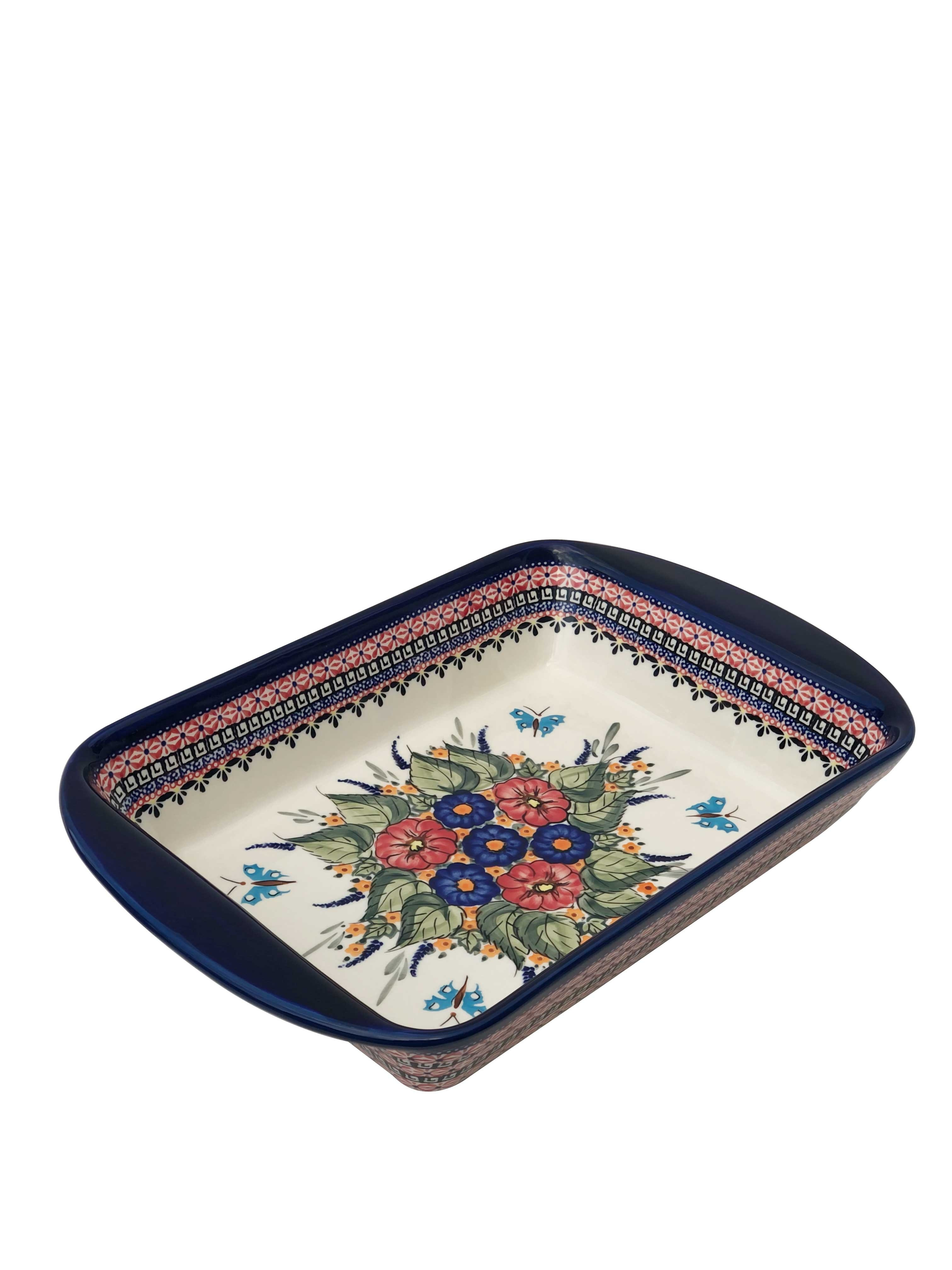 """Pottery Avenue Butterfly Merry Making 16"""" Stoneware Baker-Serving Dish"""