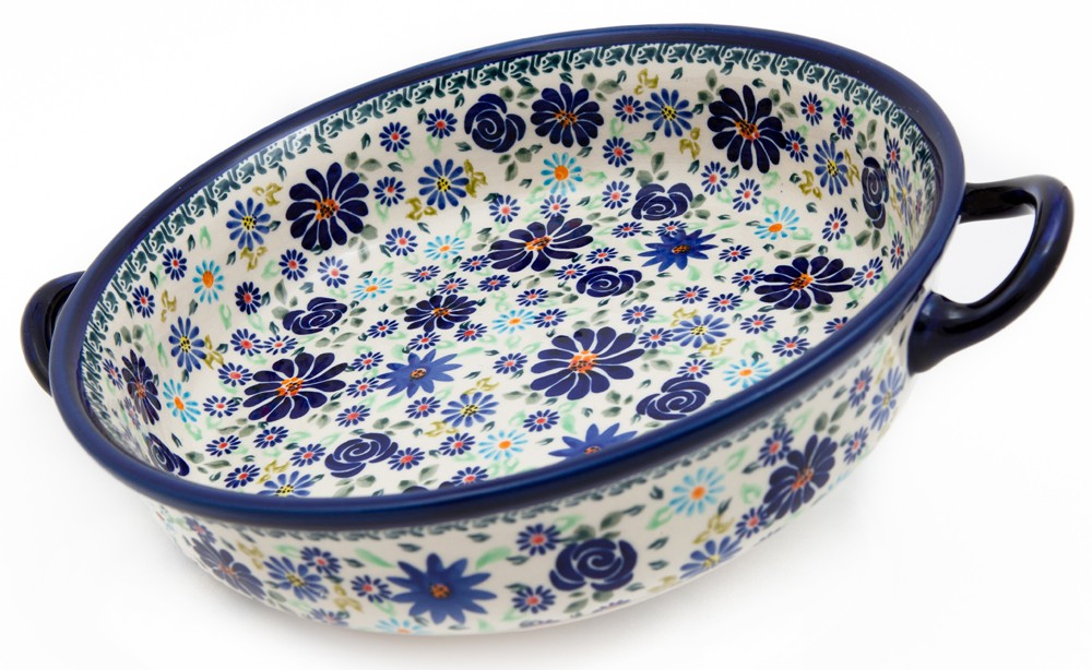 "Pottery Avenue 10"" 4TH OF JULY Round Serving Trays With Handles 