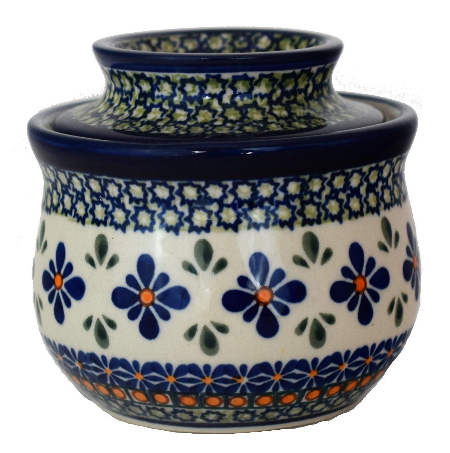 Polish Pottery SWEETIE PIE Butter Bell Stoneware Crock | ARTISAN