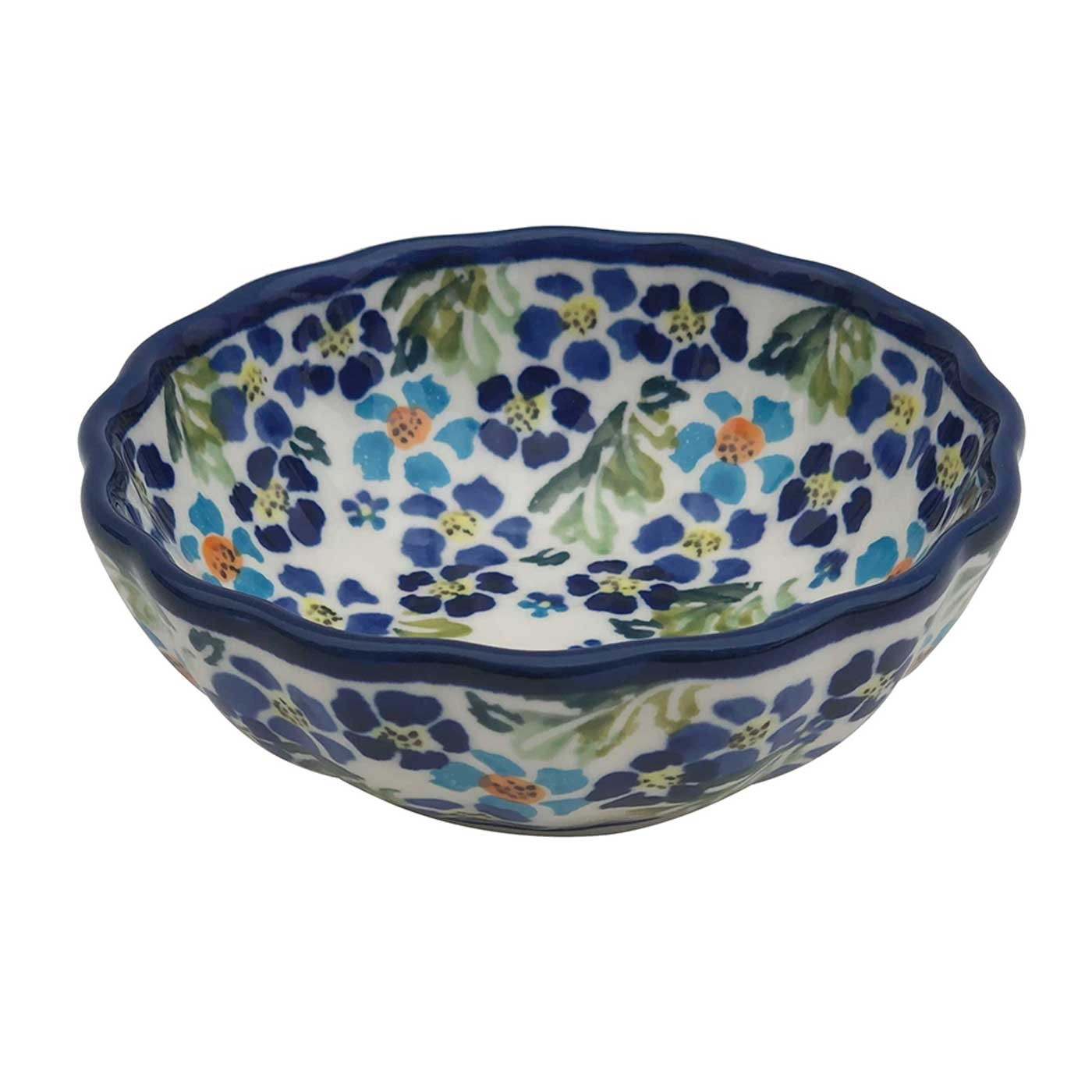 Pottery Avenue Small Scalloped Stoneware Bowl - 1518-DU207 True Blues