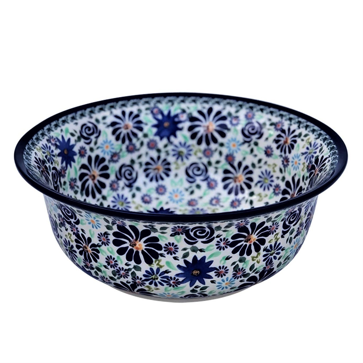 Polish Pottery 4TH OF JULY 61-oz Flared Top Stoneware Bowl - 1605-DU126