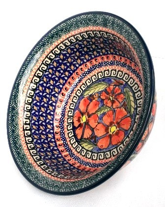 Polish Pottery CHERISHED FRIENDS 17-oz Flared Top Stoneware Bowl | UNIKAT