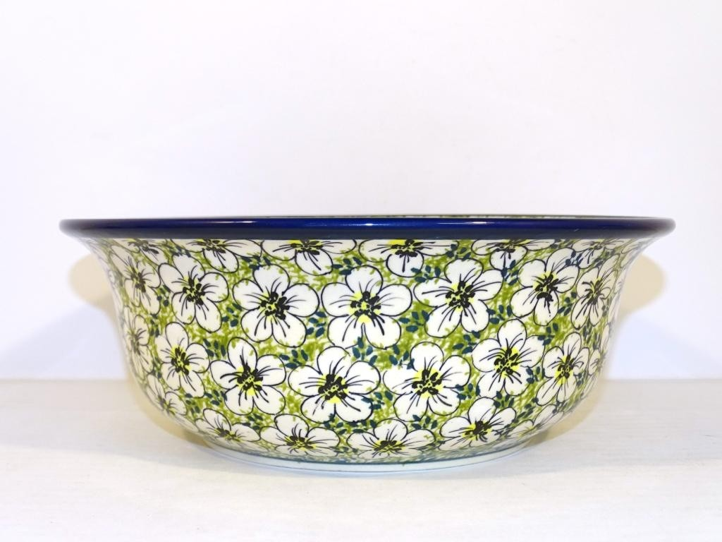 "Polish Pottery BACOPA 10"" Stoneware Serving Bowl 