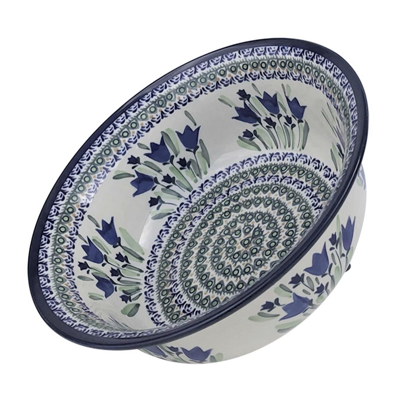 Pottery Avenue 61-oz Flatred Top Stonewfare Bowl - 1605-160AR Blue Tulip