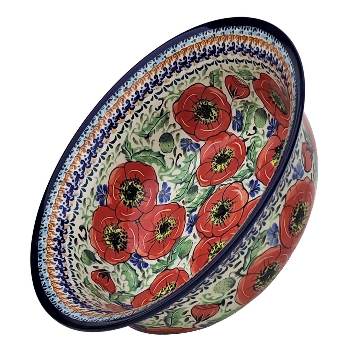 Pottery Avenue BELLISSIMA 61-oz Flared Top Stoneware Bowl  - 1605-247EX-UNIKAT - 1605-247EX