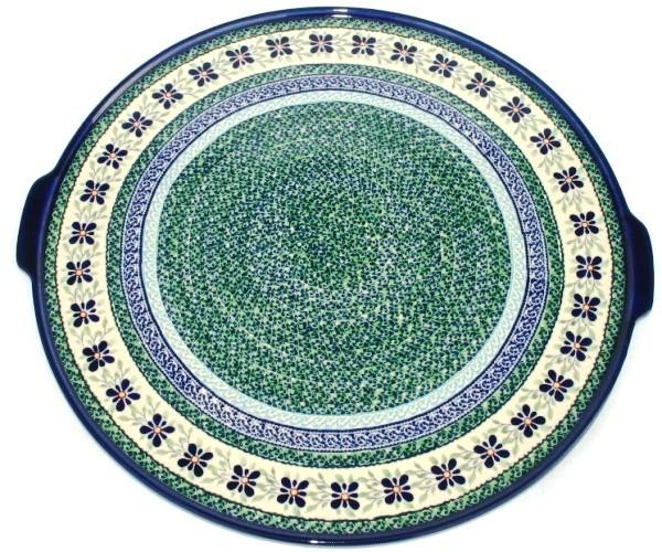 Pottery Avenue Stoneware Extra Large Round Pizza Stone or Serving Platter - 1690-DU121 Dearest Friend