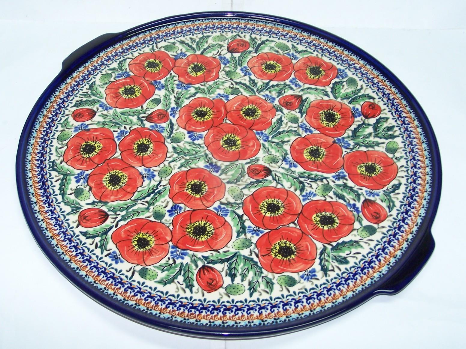 Polish Pottery BELLISSMA Large Pizza Platter | EX UNIKAT