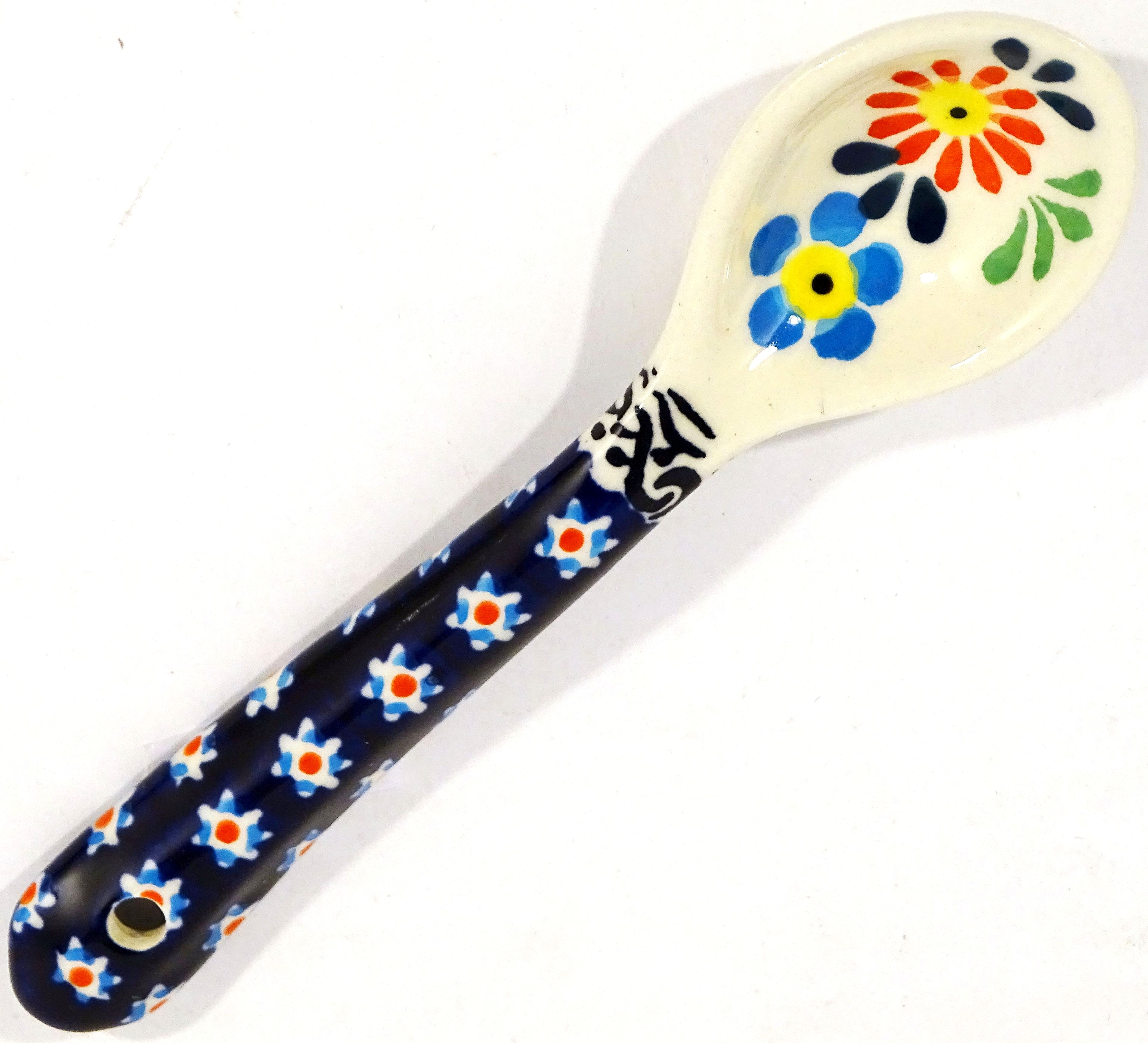 "Polish Pottery HERITAGE 5.3"" Stoneware Serving Spoon 