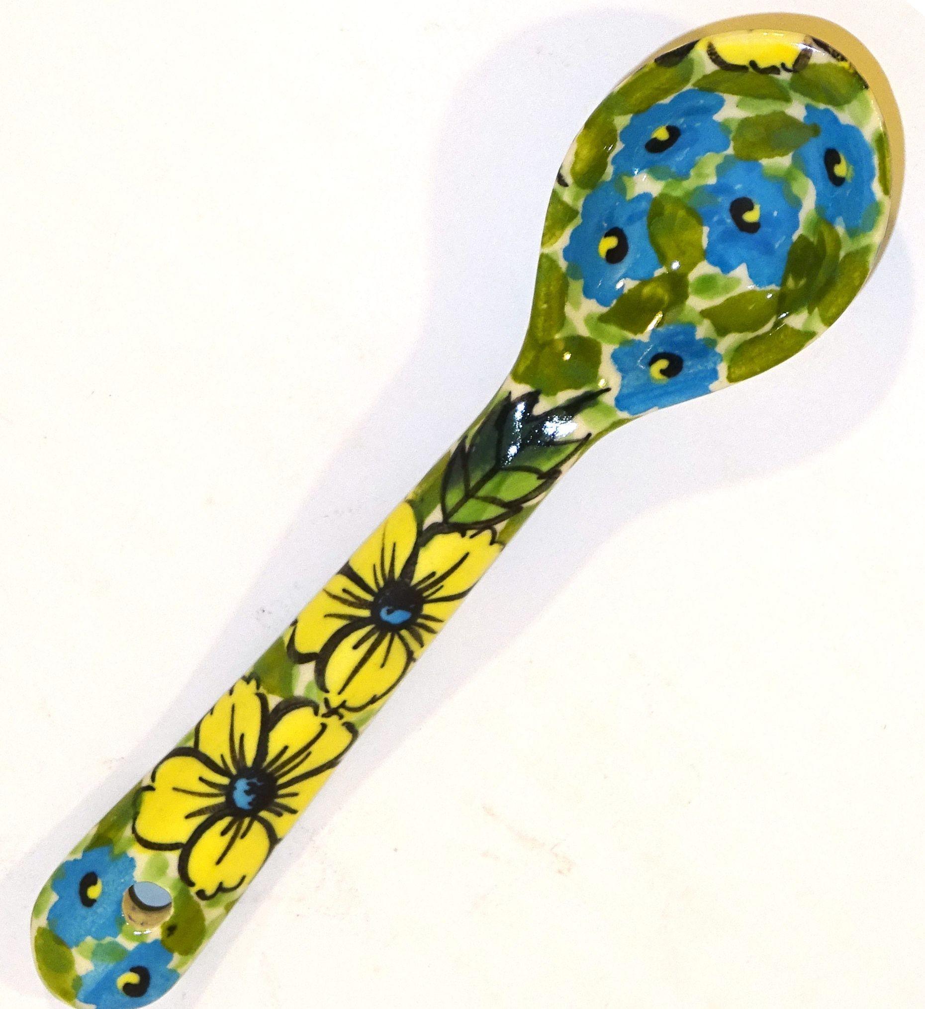 "Polish Pottery CITRINE 5.3"" Stoneware Serving Spoon | UNIKAT"
