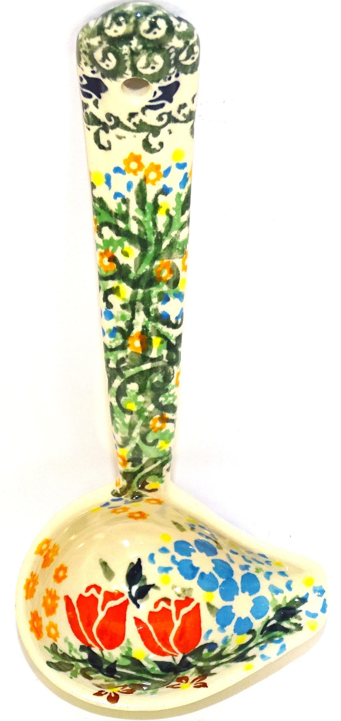 Polish Pottery DRAGONFLY 2-Cup Stoneware Gravy Ladle | ARTISAN