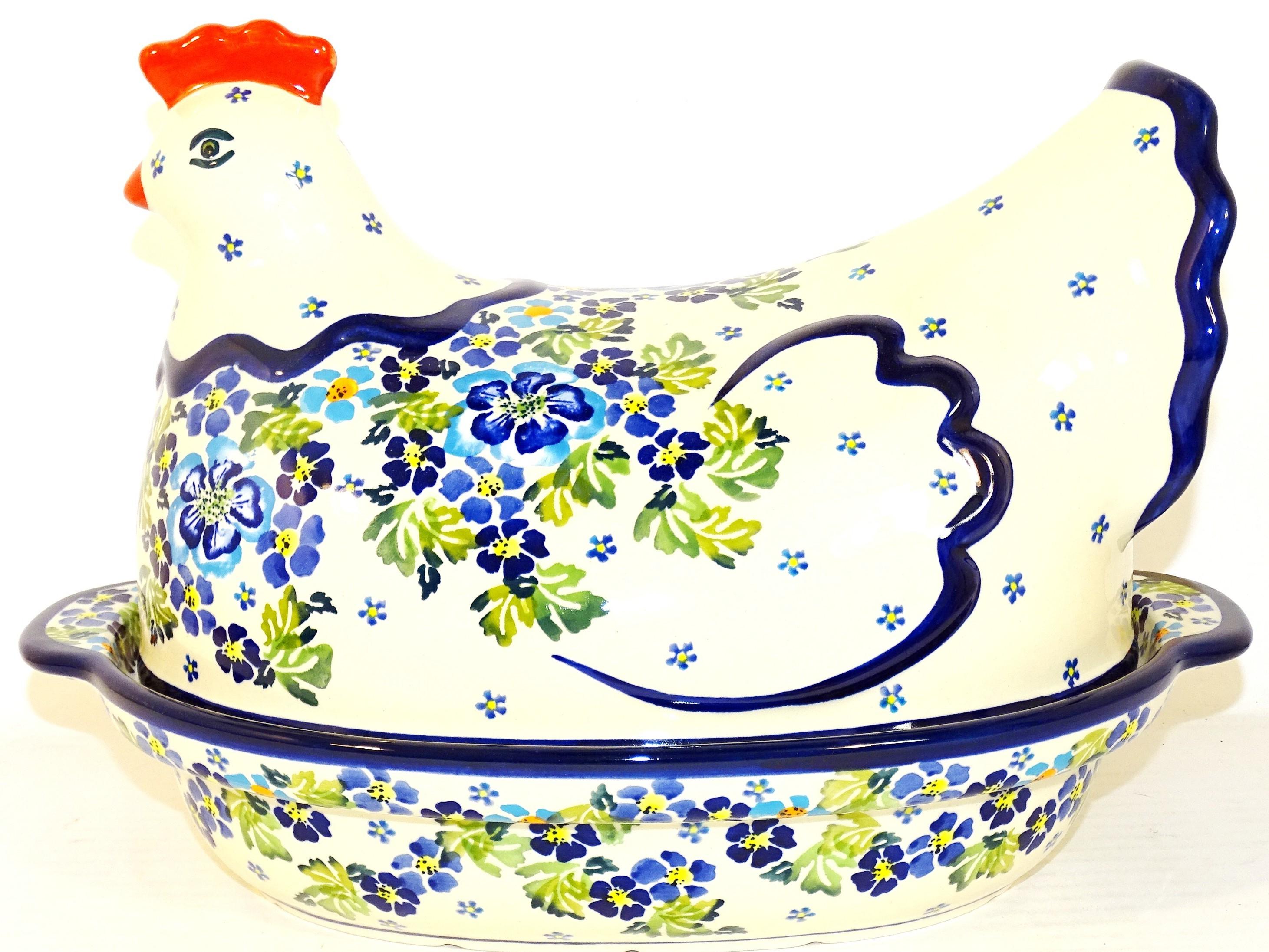 Pottery Avenue 1.5L TRUE BLUES Hen baked casserole | ARTISAN