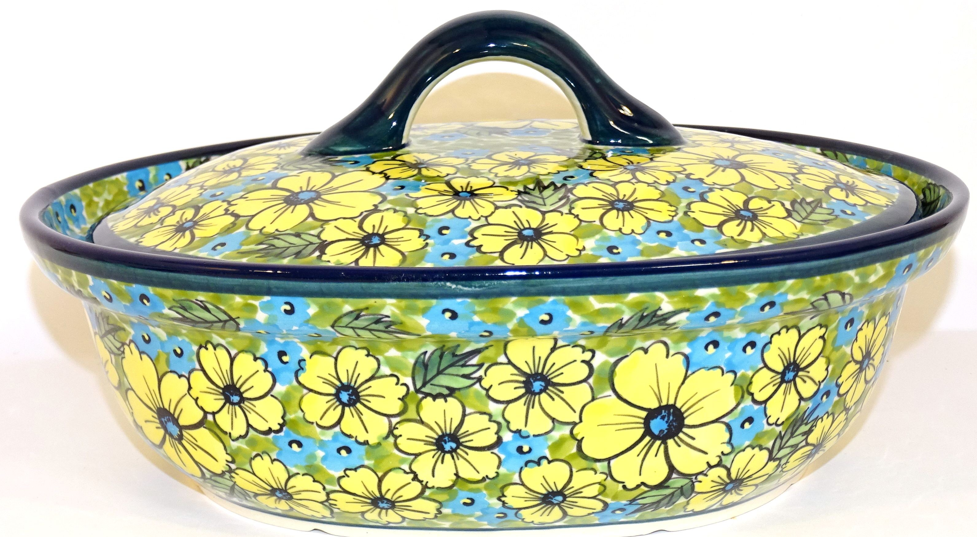 Pottery Avenue 1.5L CITRINE Covered Casserole Dish | UNIKAT