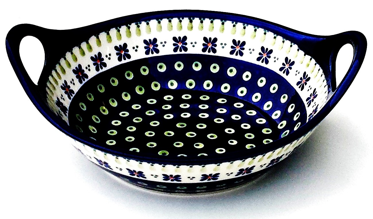"""Pottery Avenue 10"""" DROPS OF JOY Stoneware Bowls With Handles 