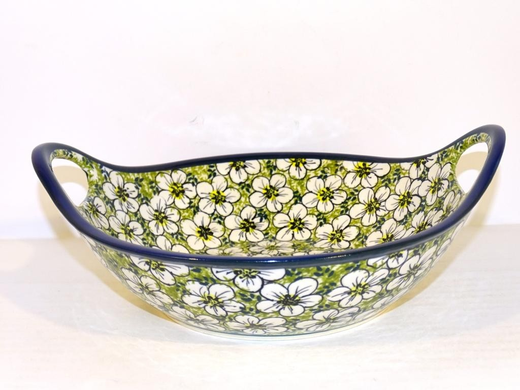 """Pottery Avenue 10"""" BACOPA Stoneware Bowls With Handles 