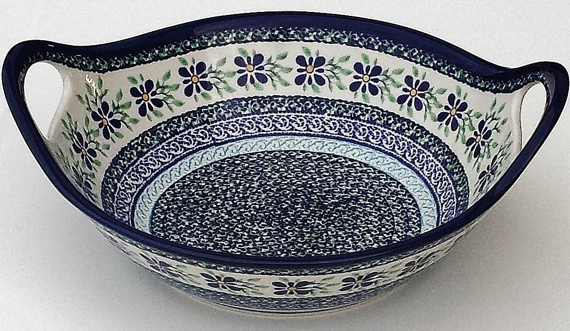 "Pottery Avenue 11.5"" Handled Stoneware Salad-Baker Bowl - 1814-DU121 Dearest Friend"