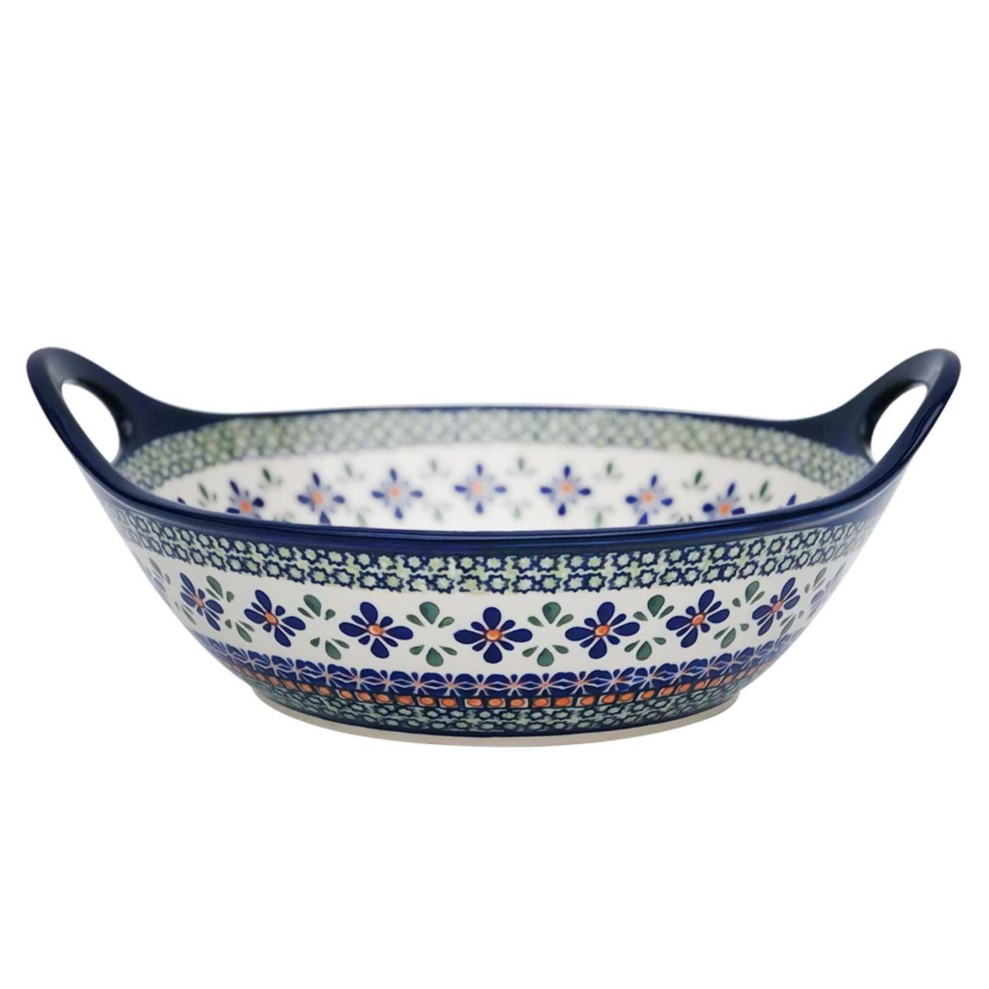 "Pottery Avenue Sweetie Pie 11.5"" Handled Stoneware Bowl-Baler (MD) - 1814-DU60 Sweetie Pie"