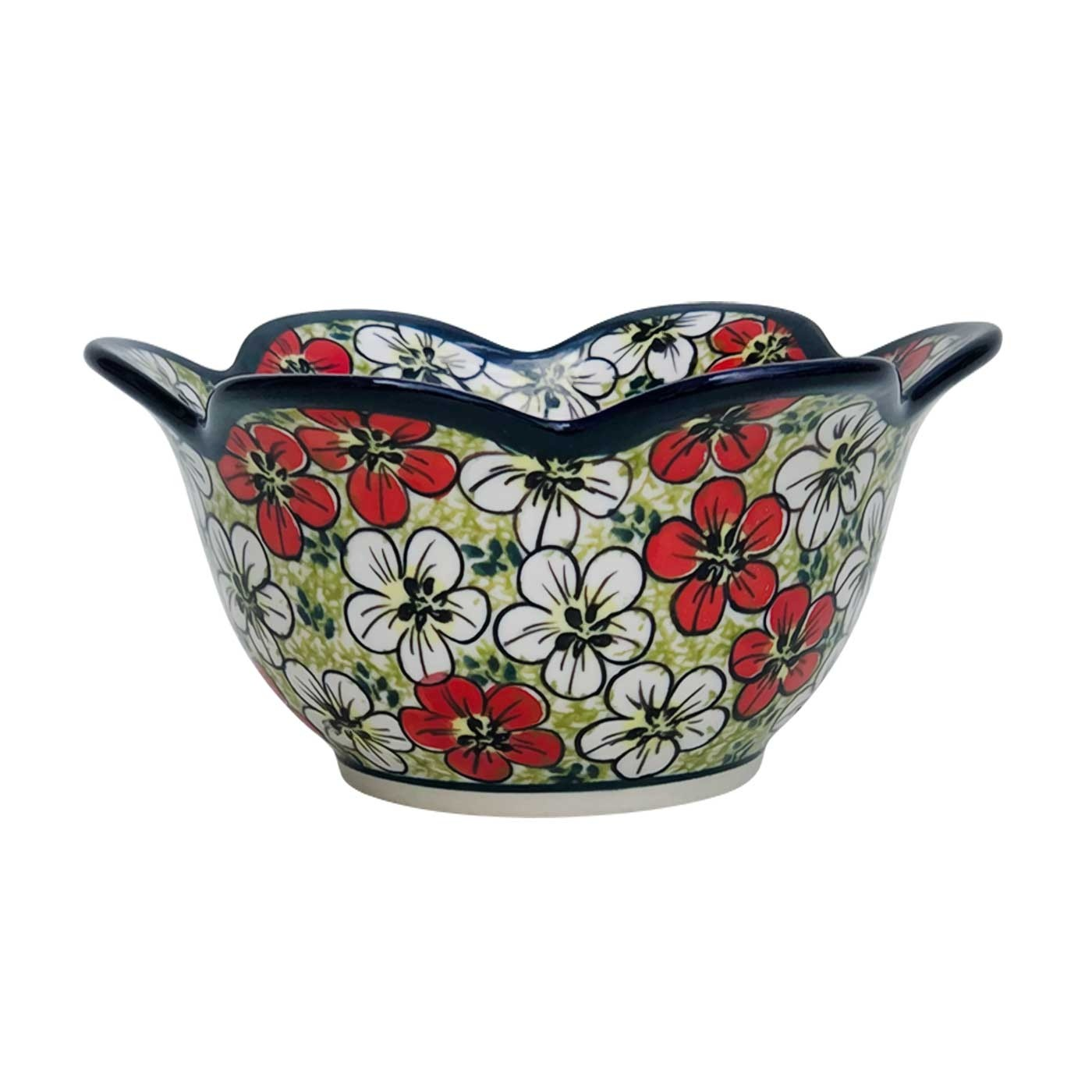 Pottery Avenue Stoneware Tulip Peta Bowl - 1868-331AR RED BACOPA