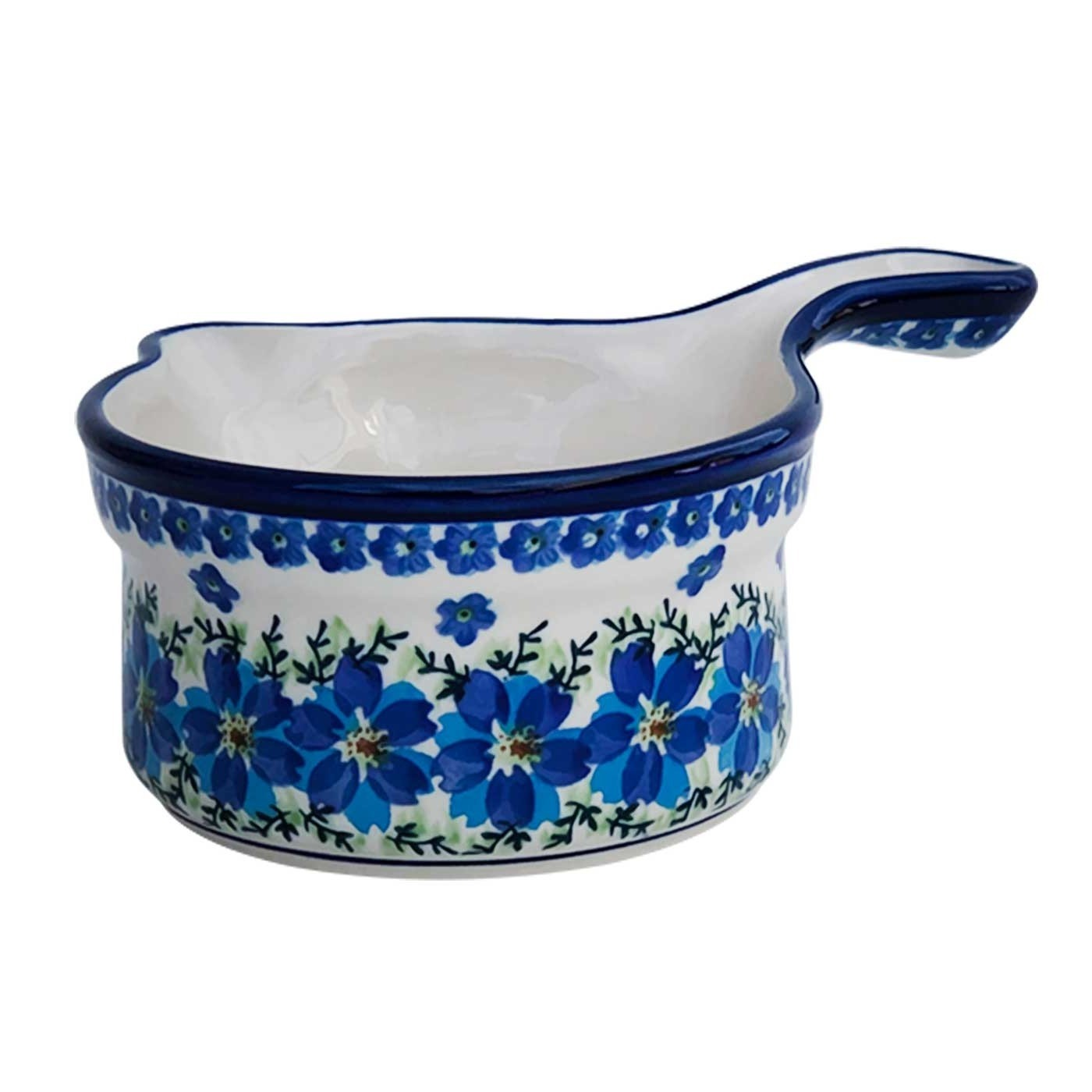 Pottery Avenue MOD FLORAL Stoneware Handled Stew Pan - 269-DU233