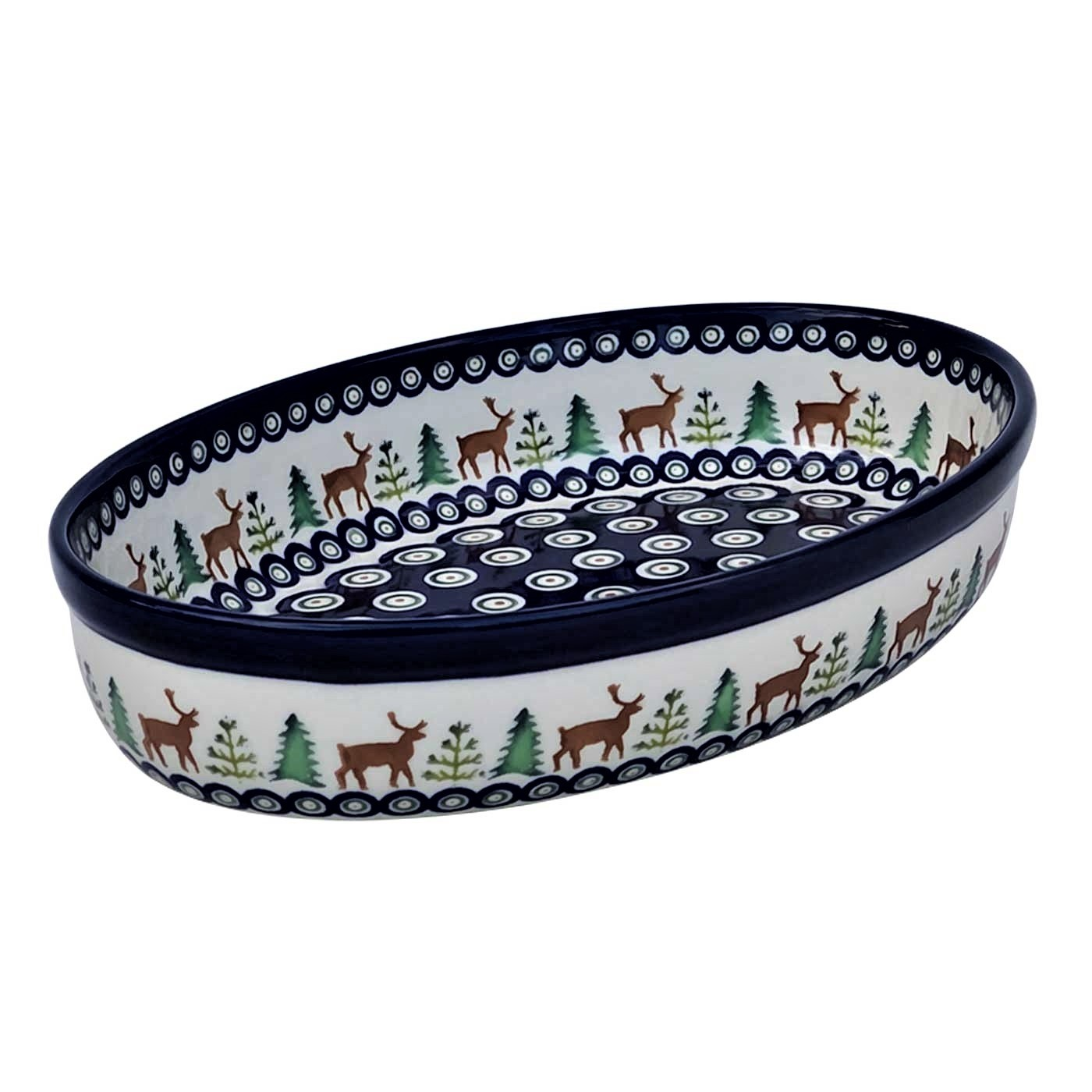Pottery Avenue 11-inch Stoneware Oval Baker - 349-992A Caribou Lodge
