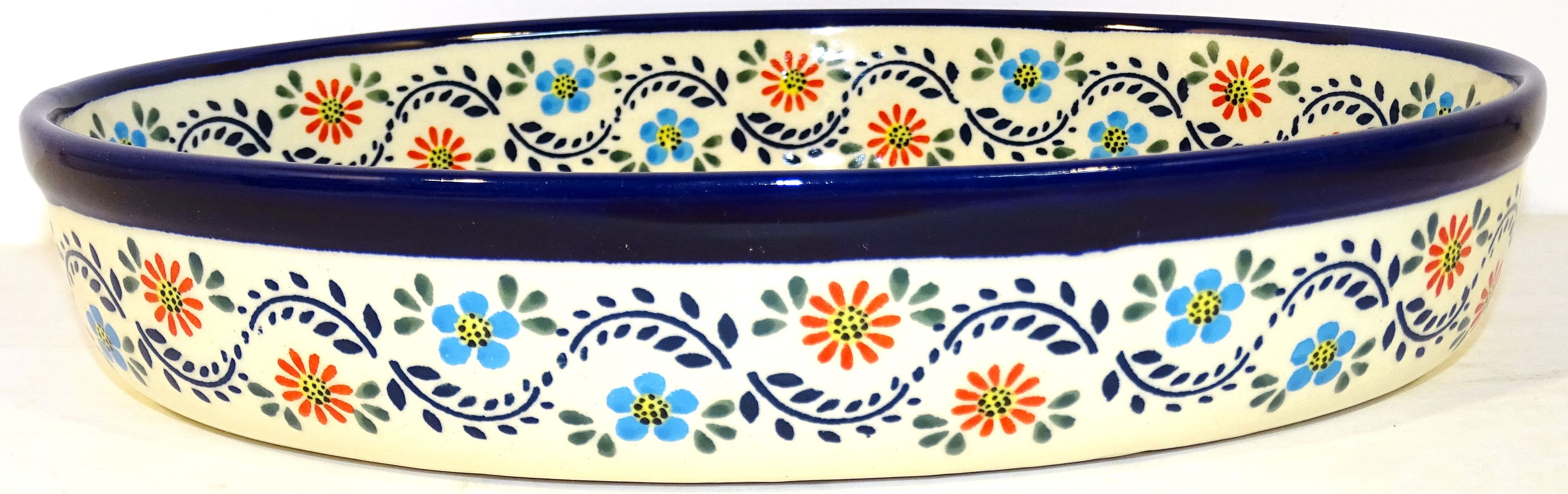 """Pottery Avenue 11"""" Oval Baker - Side View - 349-1145A Heritage Home"""