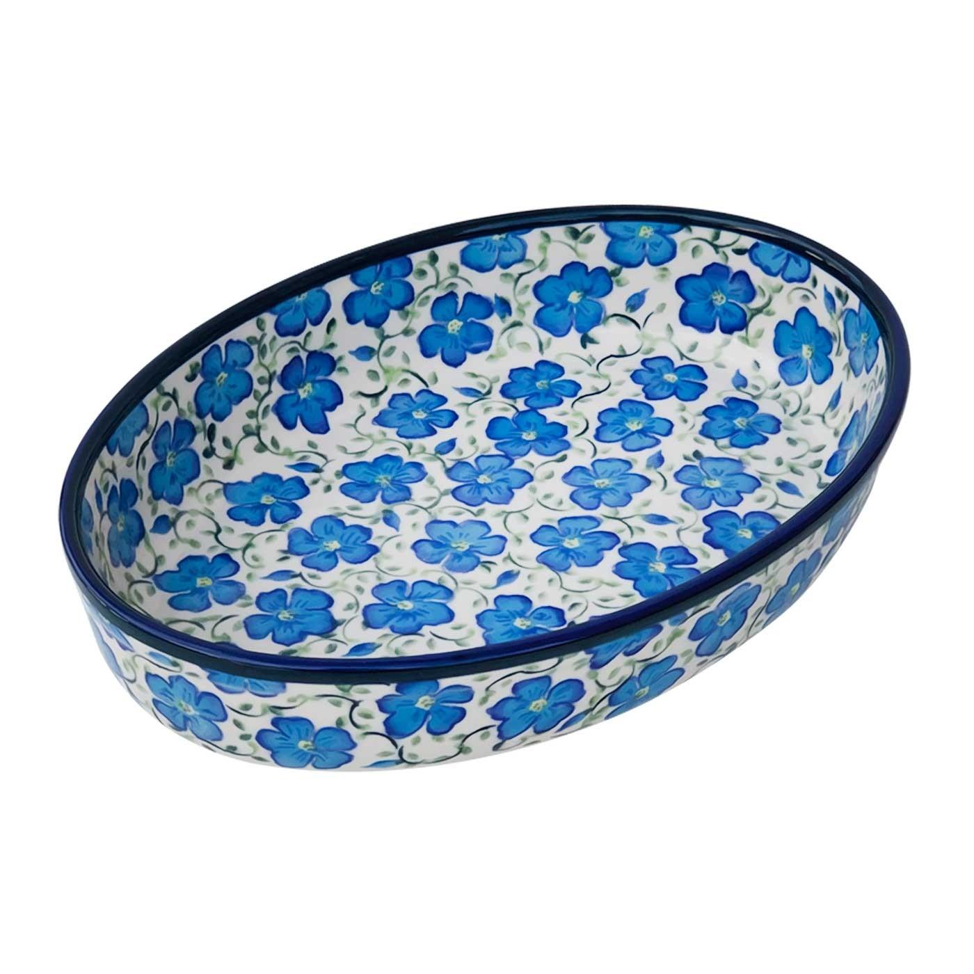 Pottery Avenue BLUE HARMON 11-inch Stoneware Oval Dish/Baker - 349-352AR