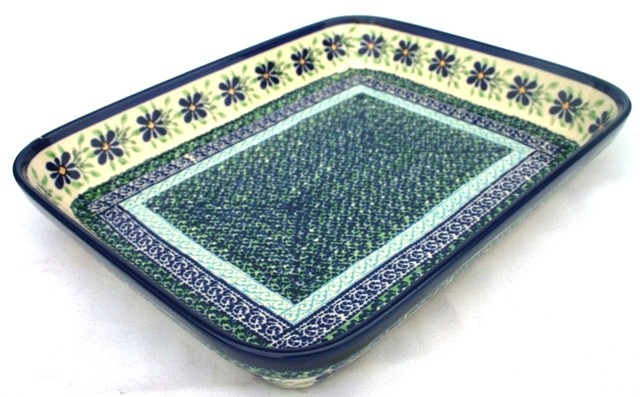 "Polish Pottery DEAREST FRIEND 8""x10"" Rectangular Stoneware Baker 