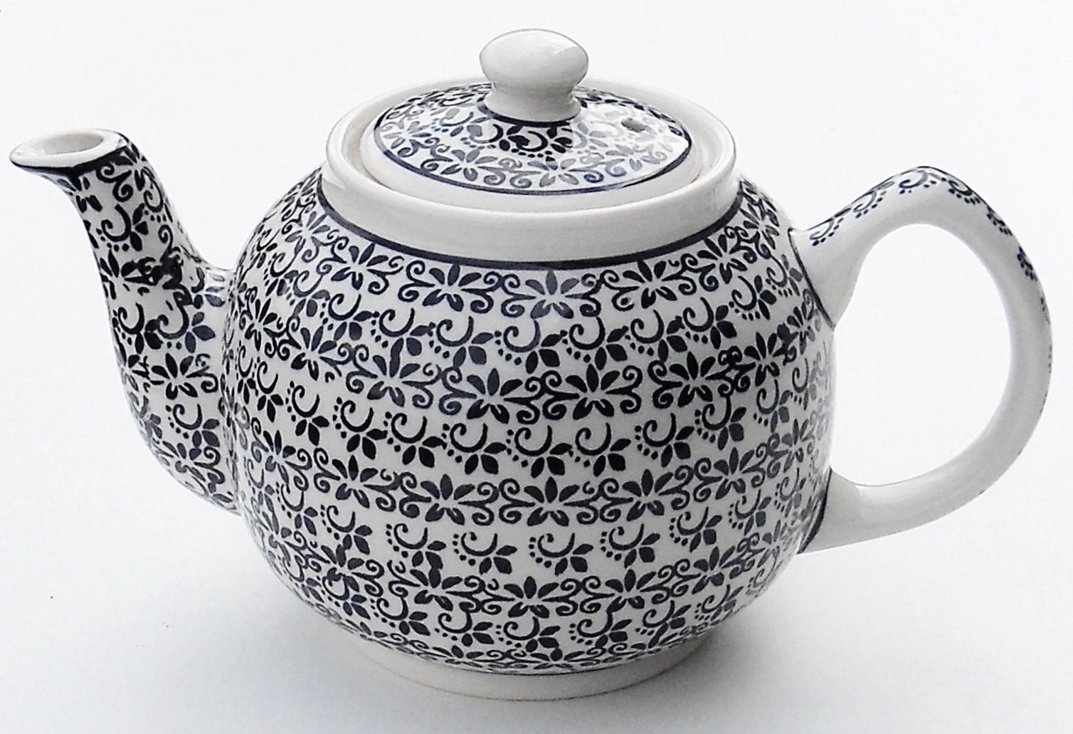 Pottery Avenue 34oz Stoneware Teapot - 596-941 Elegant Times