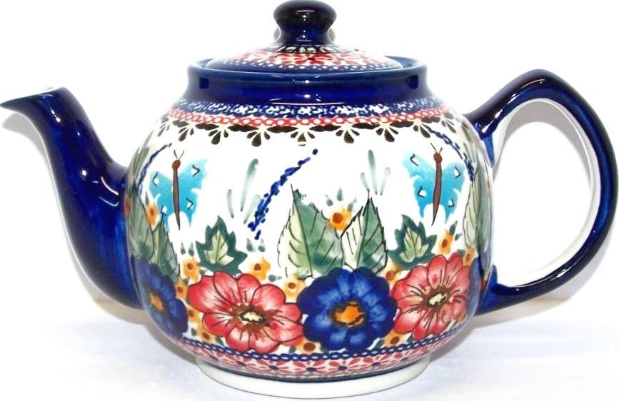 Pottery Avenue 34 oz BUTTERFLY MERRYMAKING Stoneware Teapot | UNIKAT