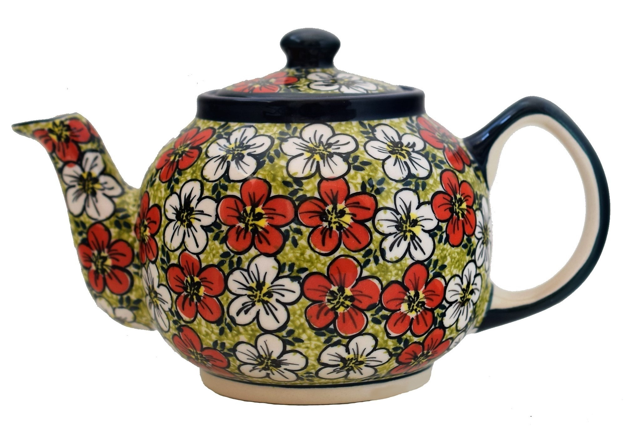Pottery Avenue RED BACOPA 4-5 Cup Teapot | UNIKAT