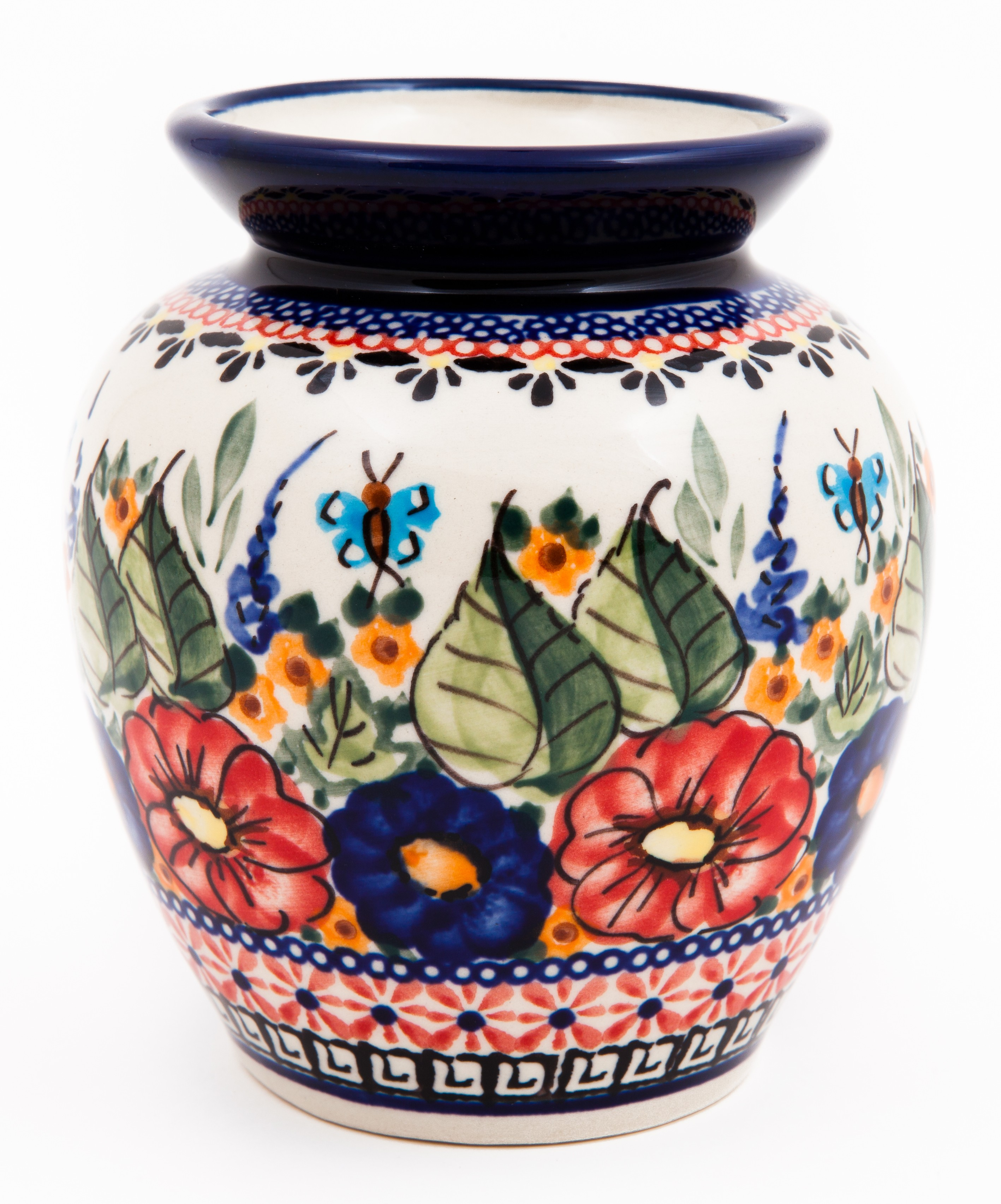 """Pottery Avenue BUTTERFLY MERRY MAKING 5"""" Stoneware Vase - 788-149AR Butterfly Merry Making"""