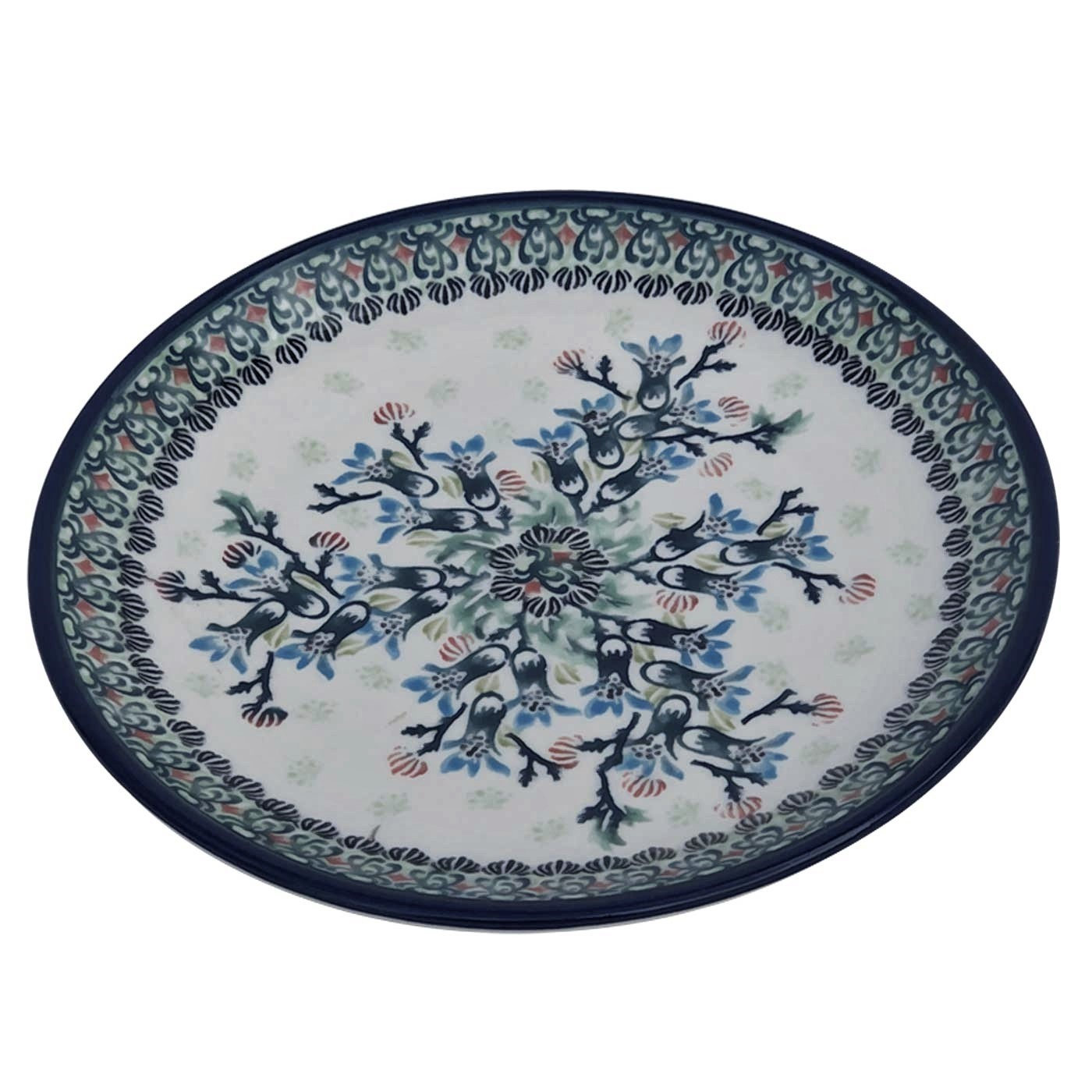 Pottery Avenue Stoneware Salad-Luncheon Plate - 814-DU146 Sea Garden