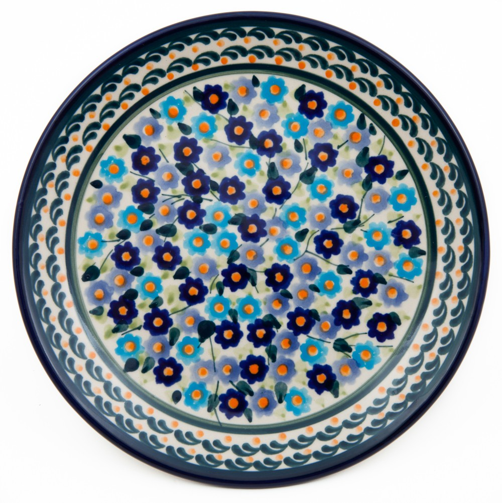 Pottery Avenue Forget Me Nots Stoneware Salad Plate