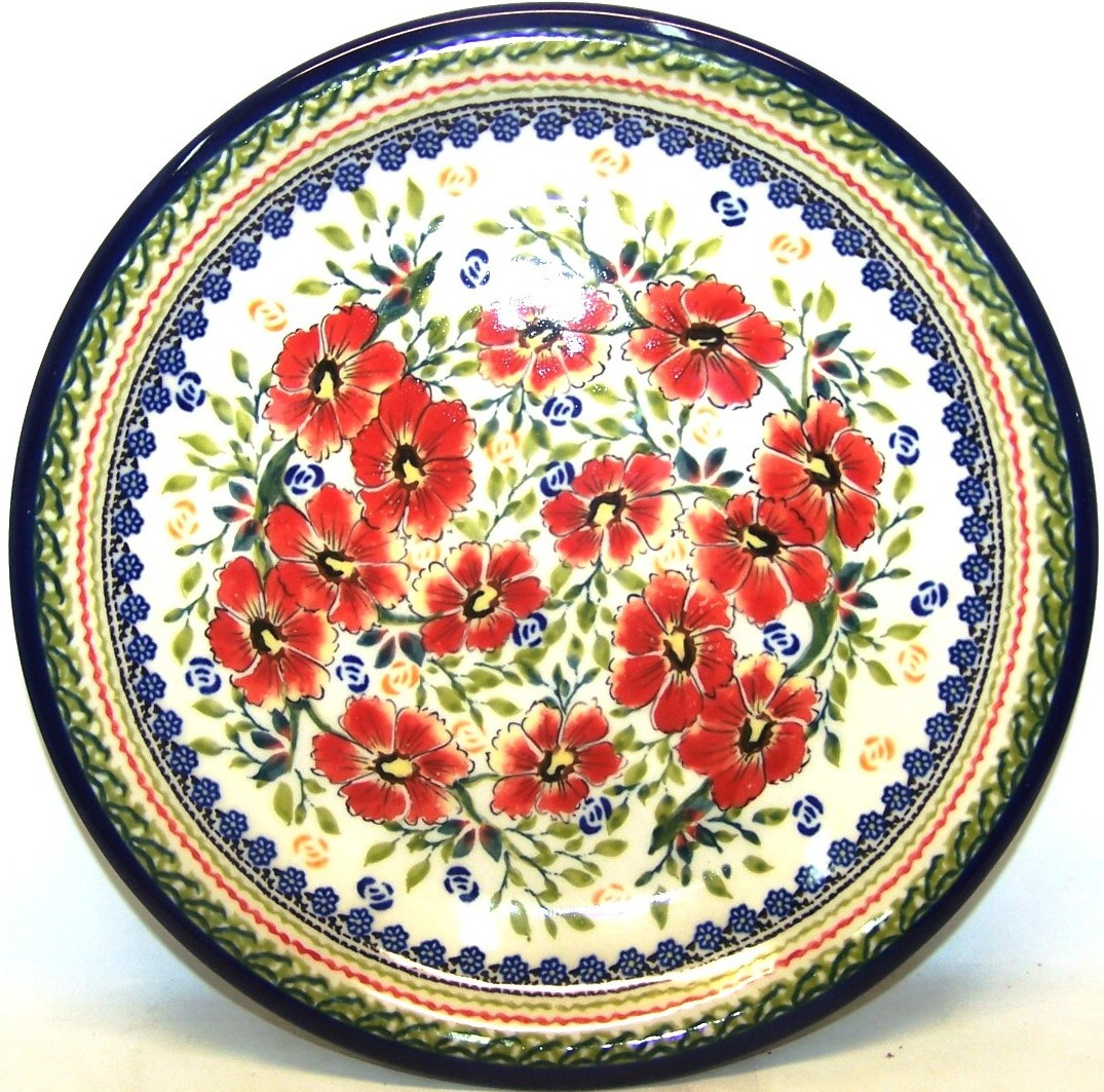 "Pottery Avenue Love Blossoms 8"" Lunch-Salad Plate 1"" Tall"